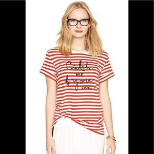 Kate Spade Catch me if you can tee shirt. Size XS